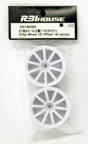 R31HOUSE R31W265 57kai Wheel Offset +9 (White/2 pcs)