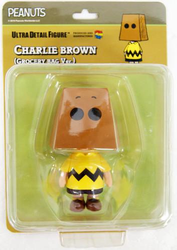 Medicom UDF-490 Ultra Detail Figure Peanuts Series 10 Charlie Brown (Grocery Bag Ver.)