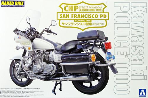 Aoshima Naked Bike 114 03404 Kawasaki San Francisco Police 1000 Cowling 1/12 Scale