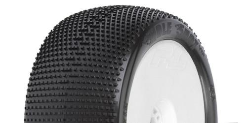 Kyosho PL-9033-233 Hole Shot 4.0 S3 1:8 Truck Tires / White Wheel