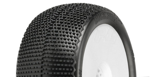 Kyosho PL-9063-233 Buck Shot 4.0S3 1:8 Truck Tires / White Wheel