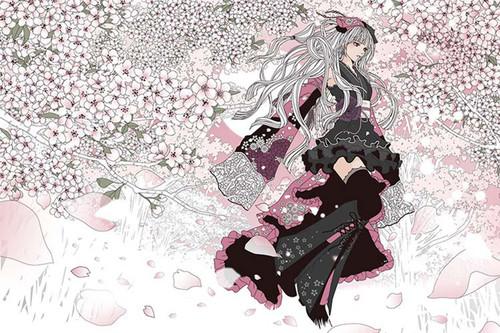 Epoch Jigsaw Puzzle 11-550 Eri Kamijo Sakura-zuki Third Lunar Month (1000 Pieces)