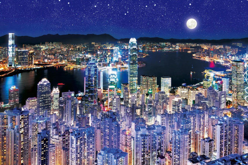 Epoch Jigsaw Puzzle 12-501 Night View in Hong Kong (1000 Pieces)