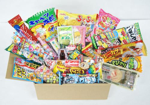 Assortment Dagashi Set Japanese Candies Chocolate Snacks - 30 Pieces Medium Box