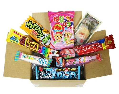 Assortment Dagashi Set Japanese Candies Chocolate Snacks - 10 Pieces Sampler Box