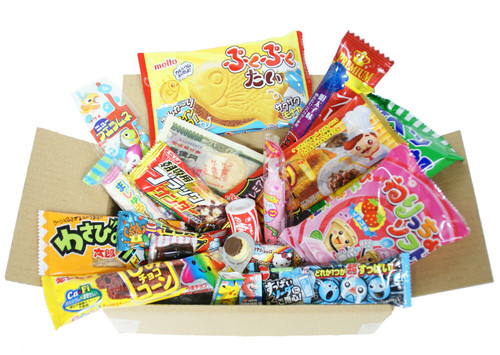 Assortment Dagashi Set Japanese Candies Chocolate Snacks - 20 Pieces Small Box