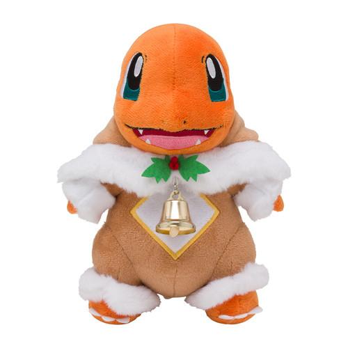 Pokemon Center Original Plush Doll Charmander Wearing Sawsbuck's Poncho Pokemon Frosty Christmas (Hitokage)