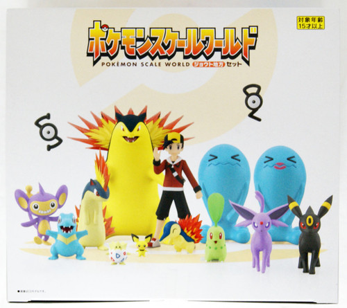 Bandai Candy Pokemon Scale World Johto Region Figure 1 Box 8 Pcs (15 Figures)