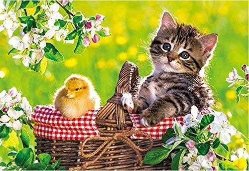 APPLEONE Jigsaw Puzzle 88-106 Kitten's Picnic with Little Chick (88 L-Pieces)
