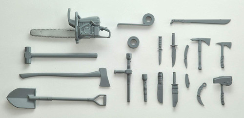 Tomytec LD026 Military Series Little Armory Melee Weapon Set A 1/12 Scale Kit