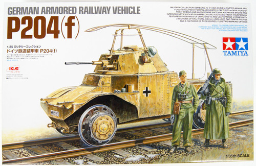 Tamiya 32413 German Armored Railway Vehicle 204(f) 1/35 Scale Kit