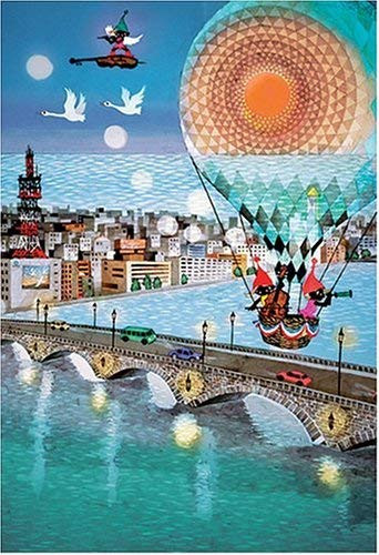 APPLEONE Jigsaw Puzzle 300-217 Seiji Fujishiro Bridge Carrying Dreams (300 Pieces)