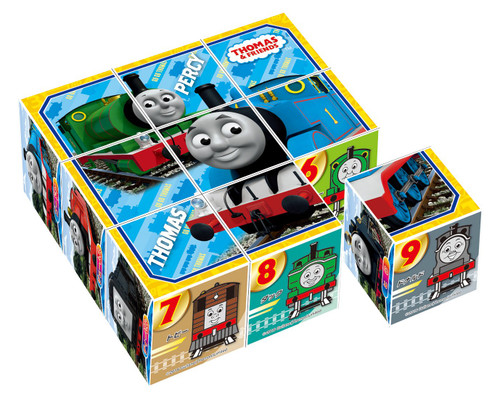 Apollo-sha Child Cube Puzzle 13-104 Thomas and Friends Cube Puzzle (9 Pieces)