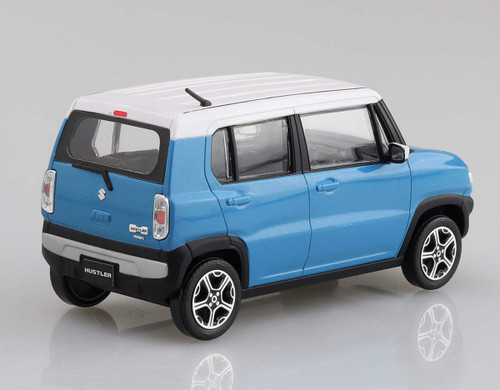 Aoshima 58329 01-D Suzuki Hustler  (Summer Blue Metallic) 1/32 Scale Pre-Painted Snap-Fit Kit