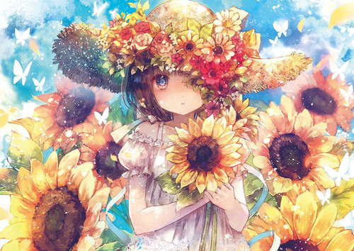 Epoch Jigsaw Puzzle 03-060 Fantasic Art Onineko Sunflower Story (108 Pieces)