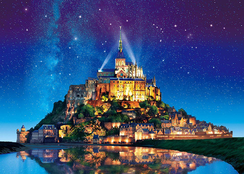 Epoch Jigsaw Puzzle 05-090 Starry Sky of Mont Saint-Michel (500 Pieces)