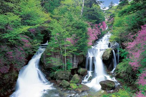 Epoch Jigsaw Puzzle 10-784 Japanese Landscape Ryuzu Waterfall in Tochigi (1000 Pieces)