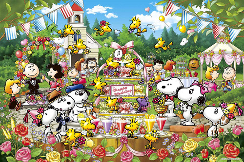 Epoch Jigsaw Puzzle 11-540S Peanuts Snoopy Woodstock's Wedding (1000 Pieces)