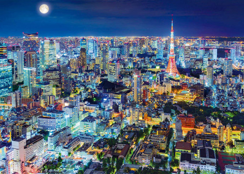 Epoch Jigsaw Puzzle 54-018 Twinkling Tokyo Night (2000 S-Pieces)