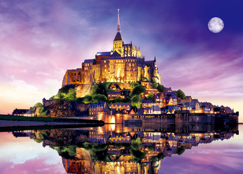Epoch Jigsaw Puzzle 54-201 Glow in the Dark Mont Saint-Michel France (2000 S-Pieces)