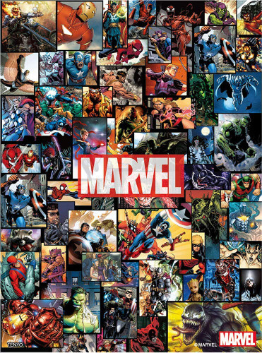 Tenyo Japan Jigsaw Puzzle RD48-628 Marvel Universe (Double Sides) (48 Pieces)