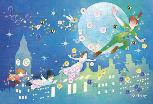Epoch Jigsaw Puzzle Decoration 70-022 Disney Peter Pan Silhouette (70 Pieces)