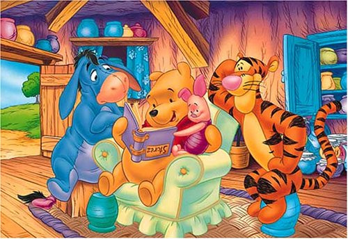 Tenyo Japan Jigsaw Puzzle D-108-852 Disney Winnie the Pooh Story Time (108 Pieces)