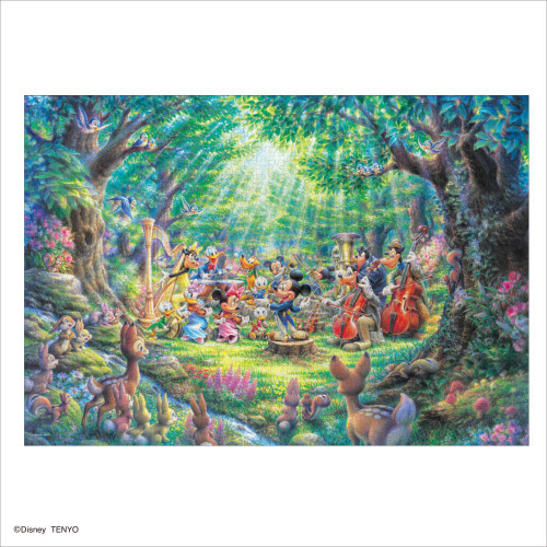 Tenyo Japan Jigsaw Puzzle D1000-045 Disney Phil Harmony in the Forest (1000 Pieces)
