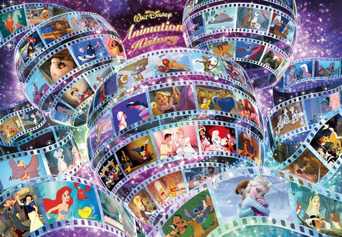 Tenyo Japan Jigsaw Puzzle D1000-461 Disney Animation History (1000 Pieces)
