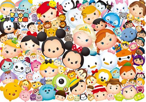 Tenyo Japan Jigsaw Puzzle D1000-462 Disney TSUM TSUM (1000 Pieces)