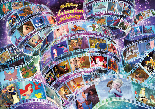 Tenyo Japan Jigsaw Puzzle D108-005 Disney Animation History 55 Animations (108 Pieces)