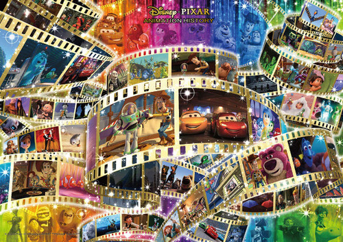 Tenyo Japan Jigsaw Puzzle D108-006 Disney Pixar Animation History 48 Animations (108 Pieces)