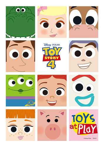 Tenyo Japan Jigsaw Puzzle D108-007 Disney Toy Story4 Toys at Play (108 Pieces)