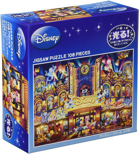 Tenyo Japan Jigsaw Puzzle D108-741 Glows in the Dark Disney Dream Theater (108 Pieces)