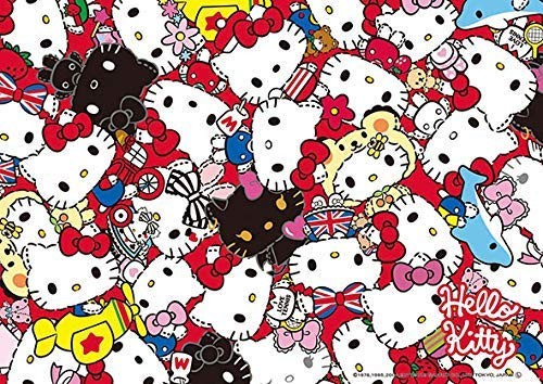 Beverly Jigsaw Puzzle 108-834 Hello Kitty History Mix Jigsaw (108 Pieces)