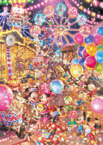 Tenyo Japan Jigsaw Puzzle D108-783 Disney and Friends Twilight Park (108 Pieces)