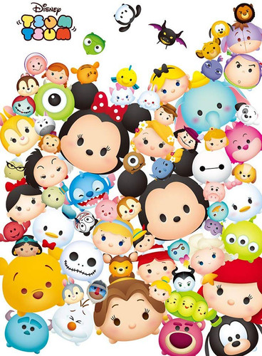 Tenyo Japan Jigsaw Puzzle D108-806 Disney TSUM TSUM Paradise (108 Pieces)