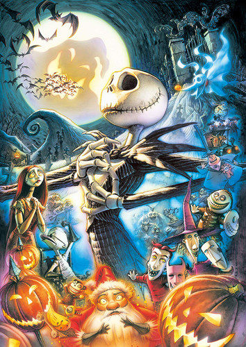 Tenyo Japan Jigsaw Puzzle D108-986 Glow in the Dark Disney Nightmare Before Christmas (108 Pieces)