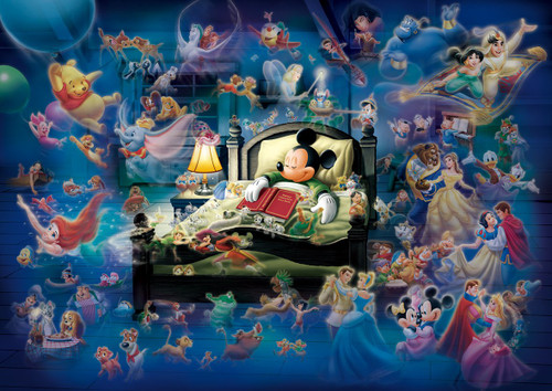 Tenyo Japan Jigsaw Puzzle D108-997 Glow in the Dark Disney Mickey's Dream Fantasy (108 Pieces)