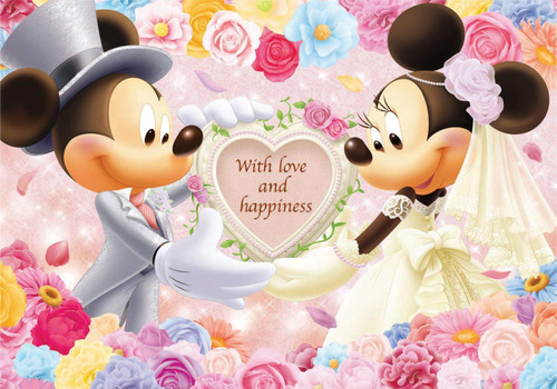 Tenyo Japan Jigsaw Puzzle D200-895 Disney Mickey and Minnie With Love (200 Pieces)