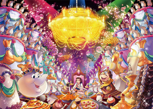 Tenyo Japan Jigsaw Puzzle D300-007 Disney Beauty and the Beast be Our Guest (300 Pieces)