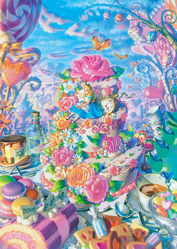 Tenyo Japan Jigsaw Puzzle D300-247 Disney Alice in Sweets Land (300 Pieces)