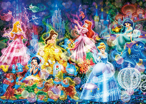 Tenyo Japan Jigsaw Puzzle D300-248 Disney Princess Brilliant Dream (300 Pieces)