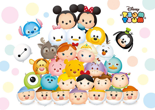 Tenyo Japan Jigsaw Puzzle D300-270 Disney TSUM TSUM (300 Pieces)