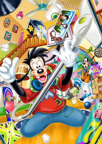 Tenyo Japan Jigsaw Puzzle D300-280 Disney Max the Super Star (300 Pieces)
