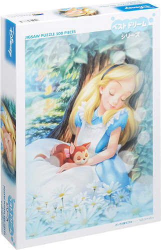 Tenyo Japan Jigsaw Puzzle D500-383 Disney Alice in Wonderland Sleeping (500 Pieces)