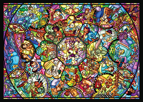 Tenyo Japan Jigsaw Puzzle D500-457 All Star Stained Glass (500 Pieces)