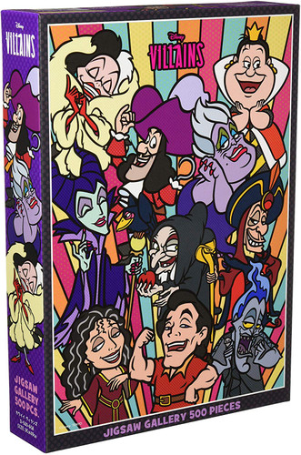 Tenyo Japan Jigsaw Puzzle D500-658 Disney Comical Villains (500 Pieces)