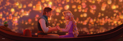 Tenyo Japan Jigsaw Puzzle DG456-718 Glow in the Dark Disney Tangled in the Lights (456 Pieces)