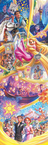 Tenyo Japan Jigsaw Puzzle DG456-728 Disney Tangled (456 Pieces)